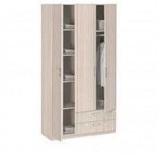 8.031 Шкаф 3-х дверный с ящиками без зеркала (шимо светлый, Шимо светлый)