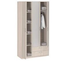 8.031 Шкаф 3-х дверный с ящиками с зеркалом (шимо светлый, Шимо светлый)
