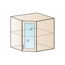 Шкаф верхний угловой со стеклом 590, ШВУС 590