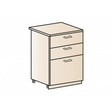 Шкаф нижний с 3-мя ящиками 600, ШН3Я 600