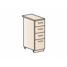 Шкаф нижний с 4-мя ящиками 300, ШН4Я 300