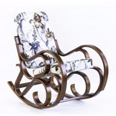 Кресло-качалка Луиза (ткань Ирис браун, каркас венге)