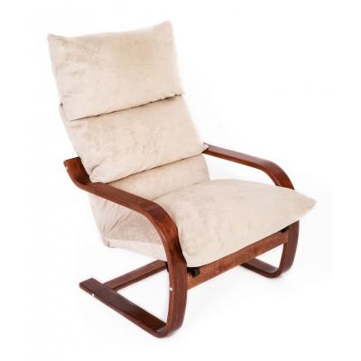 Кресло Онега , ткань Карамель, каркас вишня