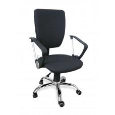 Офисное кресло Нота РС900 хром (ткань черная)