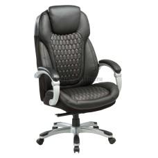 Кресло руководителя Бюрократ Т-9917 кожа (black)