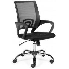 Офисное кресло Спринг хром 804-1 (ткань сетка черная)