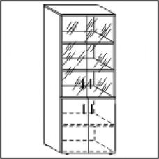 Шкаф со стеклом ЛФ217