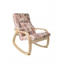 Кресло-качалка САЙМА + пуф