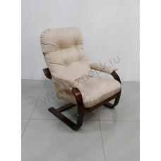 Кресло Онега 2, каркас вишня, ткань премьер 08, бежевый