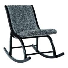 """Кресло качалка  """"Люцерн"""" каркас черный ткань муссон"""
