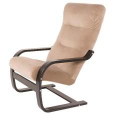 "Кресло качалка  ""Гарда"" (каркас венге структура, ткань миндаль"