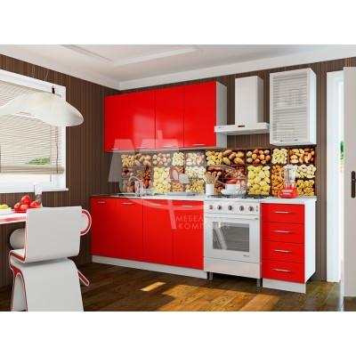 Кухня ЛДСП 1,8м красная