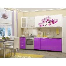 Кухня ПВХ 1,8м фотопечать орхидея (фиолет)