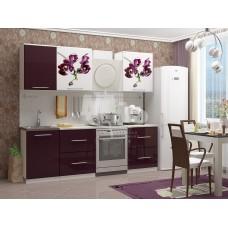 Кухня ПВХ 1,7м фотопечать орхидея №1
