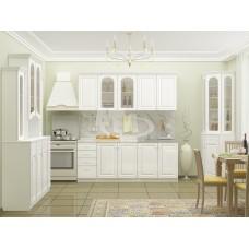 Кухня ПВХ 2,0м Вероника белый глянец/белый
